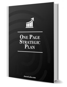 ONE PAGE STRATEGIC PLAN TEMPLATE Most Businesses Either Have No Plan At All Or An Extensive Business That Is Written Then Forgotten
